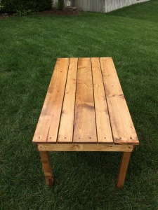 Small coffee table reclaimed from pallets