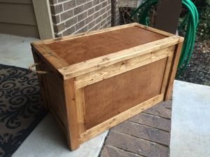 A rustic little keepsake trunk